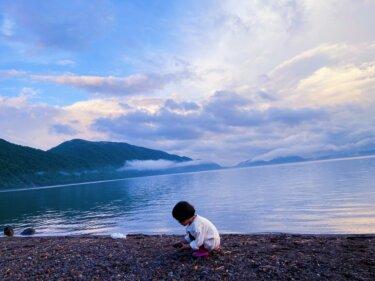 湖の透明度に驚き!!支笏湖で車中泊。